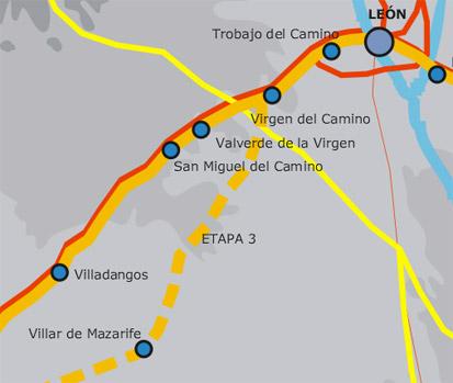 Camino de Santiago plano paso villar mazarife